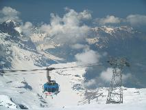 The rotating cable car to the Titlis