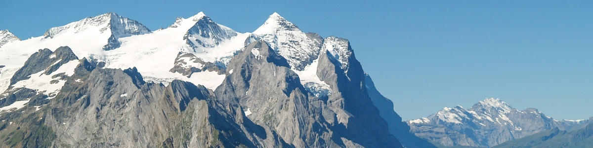 Mittelhorn and Wetterhorn from Planplatten